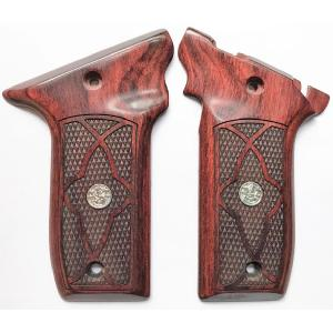 S&W 22 Victory Rosewood Checkered with Border Image