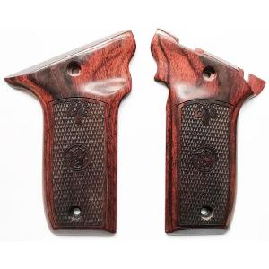 S&W 22 Victory Rosewood Checkered Logos Image