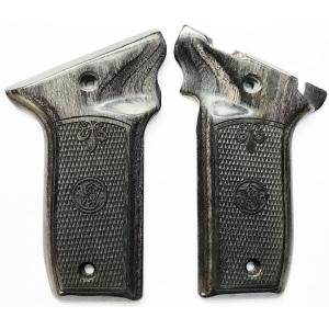 S&W 22 Victory Silverblack Checkered Logo Image