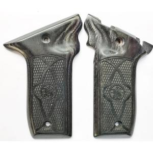 S&W 22 Victory Silverblack Checkered with Border Image